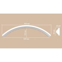 Радиус [1/4 круга] Decomaster 897010-120 (Rнар. 640 | Rвн. 600)